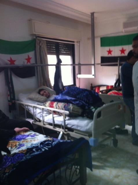 Hospital where the wounded refugees are being treated - most of them are gunshot wounds.