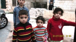 Children outside the clinic.