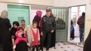 People gathering in the clinic for medical help