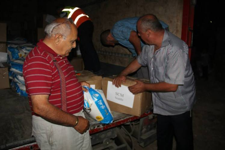SCM's Ramadan Food Drive - food items have arrived in Jordan
