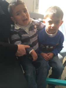 The boy on the left is the one who has nightmares. His name is Mohamad. Boy on the right is Omar.