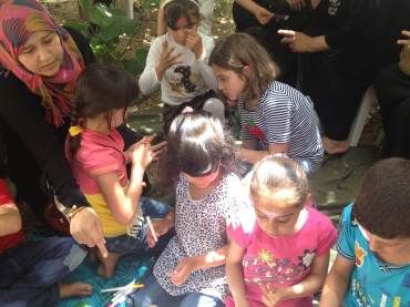 Humanitarian work with the children in Madaba