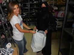 We also distributed clothing for men, women and children.