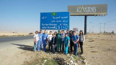 On the way to Zaatari