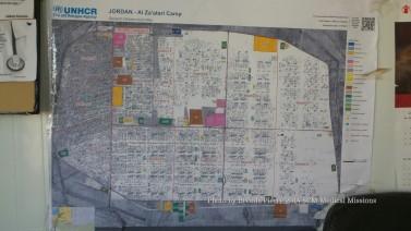 Map of Zaatari Camp