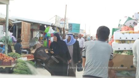 Busy streets inside Zaatari
