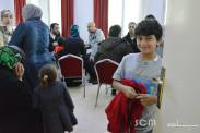 Our youngest volunteer- heis whole family came to help the refugees!