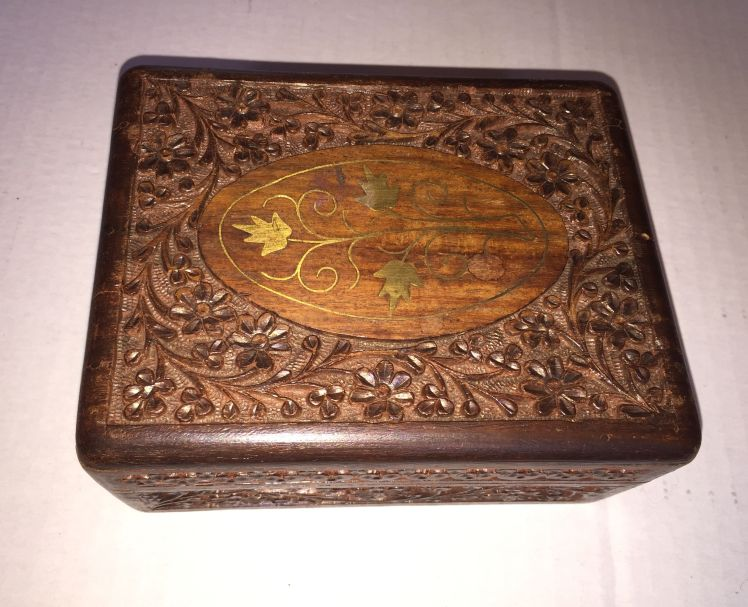 Floral Wood Box