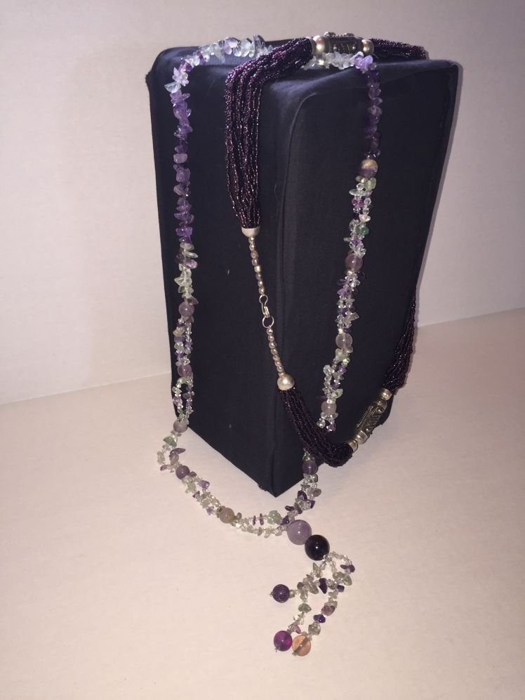 Purple Beaded Necklaces